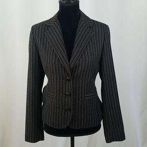 CAbi #364 women 6 Joey Leopard lined blazer jacket